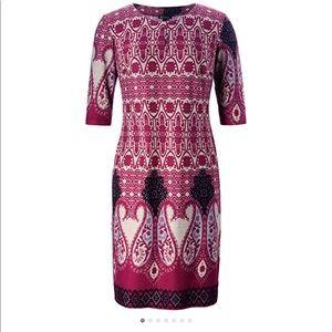 Chicer women's plus Vintage Floral Shift Dress